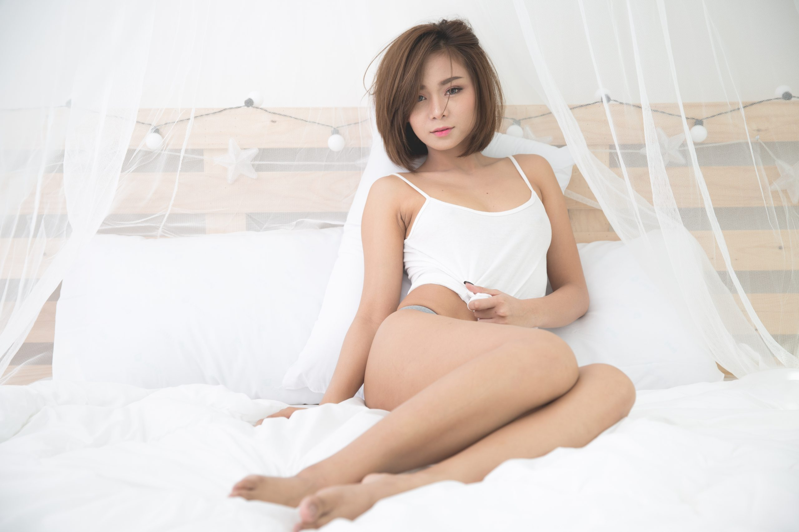 Filipino Sexy young woman in bedroom