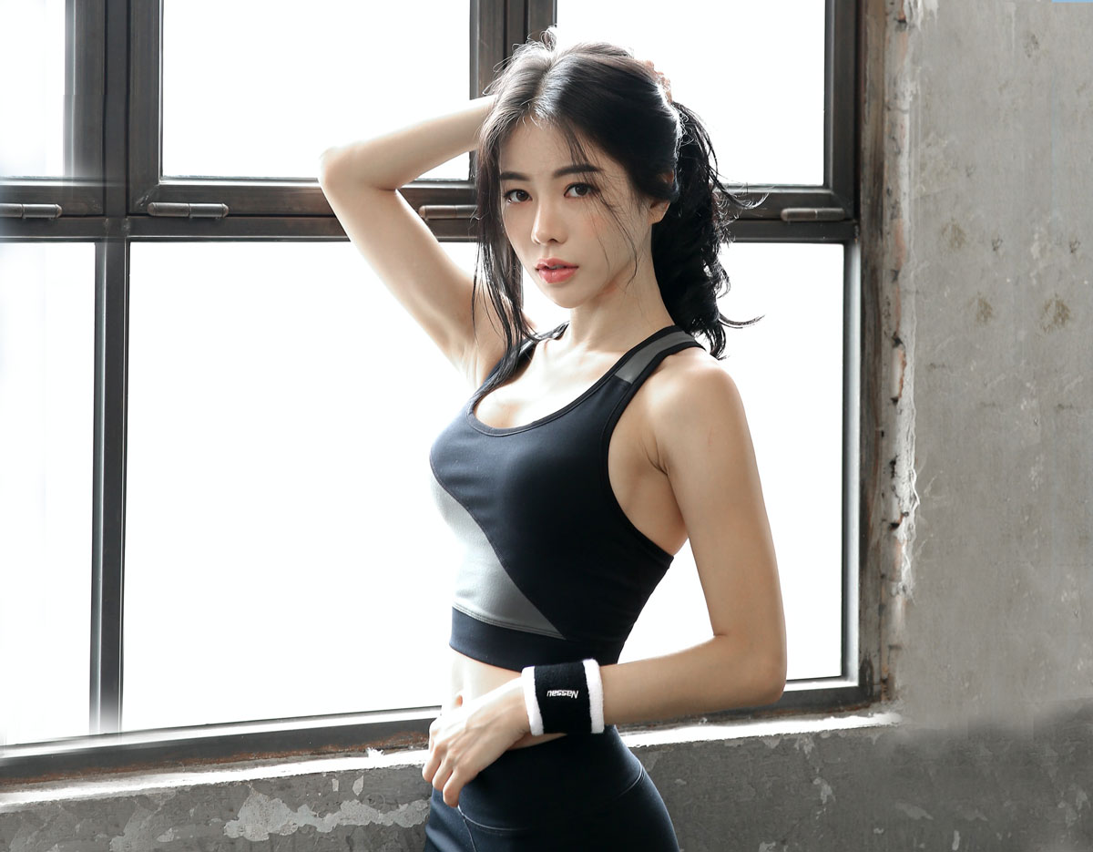 young sporty Chinese woman
