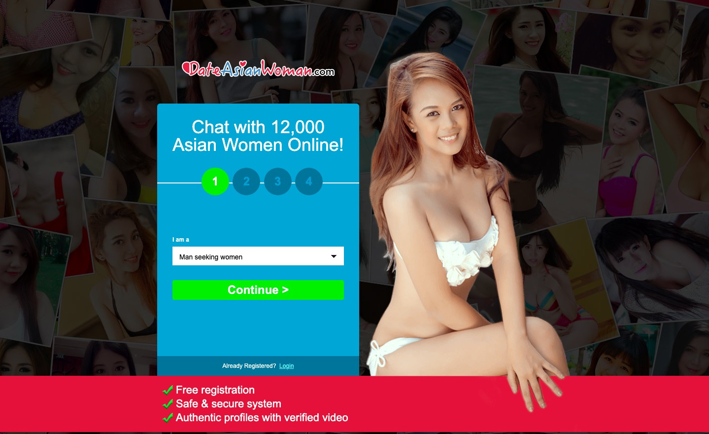 DateAsianWoman main page